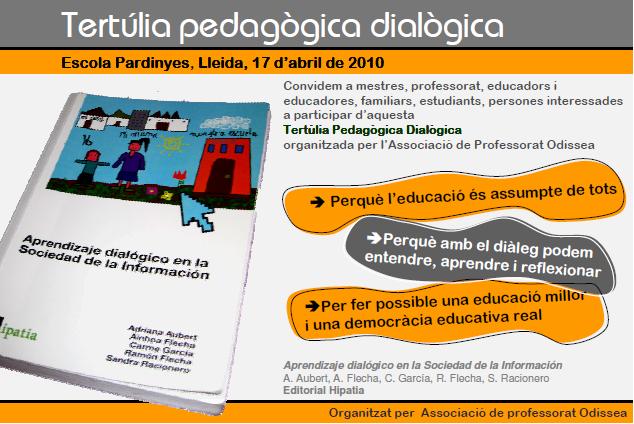 Tertúlia pedagògica dialògica 17 d'Abril de 2010 a Lleida
