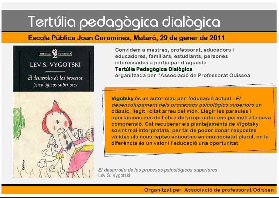 29 de Gener de 2011: Tertúlia Pedagògica Dialògica
