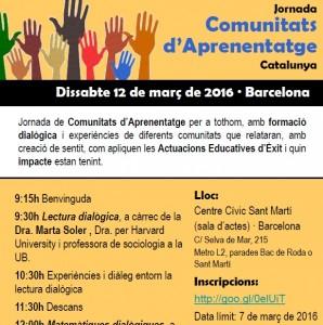 Jornada de comunitats d'aprenentatge a Barcelona – Dissabte 12 de Març