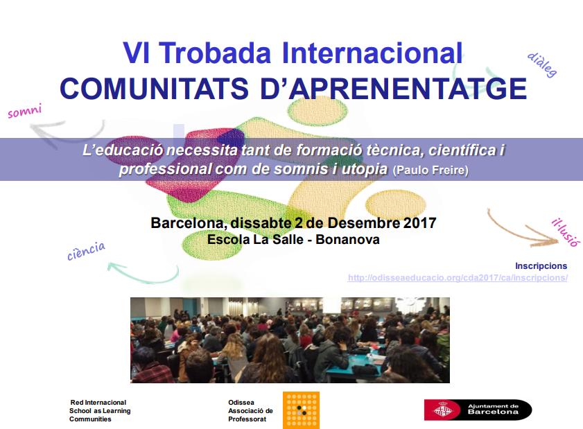 VI Trobada Internacional de Comunitats d'Aprenentatge a Barcelona